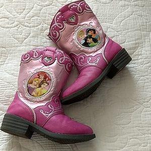 💃💖✨Disney Princess girls Cowboy boots, Toddler 7